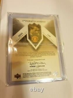 02 UD Manchester Man United Denis Law Legendary Hand Signed Autograph Auto 05/10