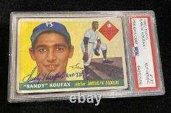 1955 Topps SANDY KOUFAX RC Rookie Hand Signed AUTO Autographed withHOF 72 PSA/DNA