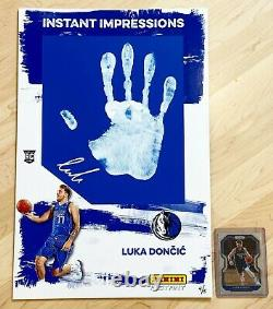 2018 Luka Doncic Panini Instant Impressions Hand Print RC Auto /5 Rookie 11x17