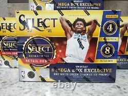 2021 NBA Panini Select Retail Mega Box LOT OF 4 FACTORY SEALED & IN HAND