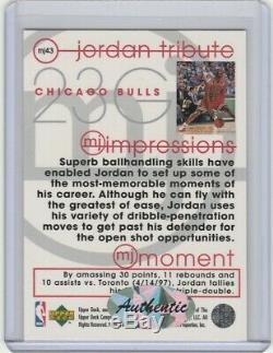 #23 Michael Jordan Autograph Card with COA Hand Signed Chicago Bulls / White Sox