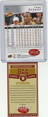 #24 Kobe Bryant Autograph Card with COA Hand Signed Los Angeles Lakers