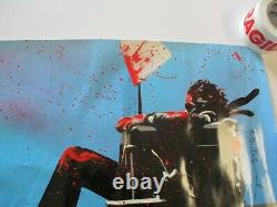 36 Inch Mr Brainwash Poster Hand Signed Autographed Rare Vintage Abstract Pop