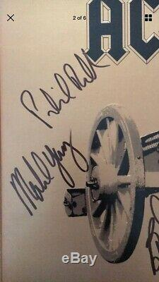 AC/DC Group Hand Signed Autographed For Those About To Rock Album By All Five