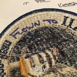 APOLLO 12 Patch FLOWN TO THE MOON Alan Bean COA Hand signed Autograph