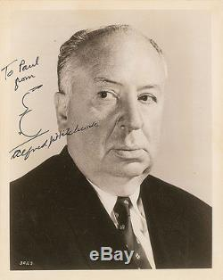 Alfred Hitchcock Authentic Signed Autographed Photo & Hand Drawn Sketch PSA