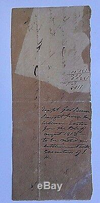 Andrew Jackson Document 22 Words In His Hand Re Food For His Slaves Signed