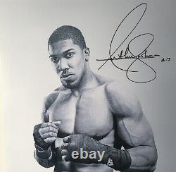 Anthony Joshua Olympic hand signed (WET HAND SIGNATURE)