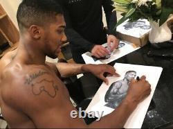 Anthony Joshua Signed (WET HAND SIGNATURE)