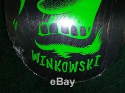 Autographed Santa Cruz Erick Winkowski Multi Hand Skateboard deck 8.25
