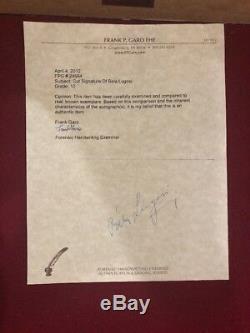 BELA LUGOSI Dracula Authentic Hand Signed UACC COA Autograph Framed Photograph