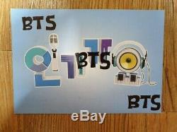 BTS 2014 SBS Ingikayo Q Card Autographed Hand Signed