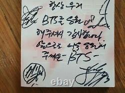 BTS BANGTAN BOYS Promo HYYH Album Autographed Hand Signed