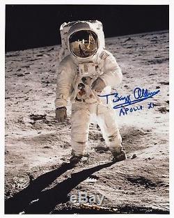 BUZZ ALDRIN APOLLO 11 MOON WALKER -LUNAR EVA- HAND SIGNED 8x10 PHOTO NASA W-LOA