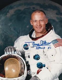 BUZZ ALDRIN APOLLO 11 MOON WALKER -WSS- HAND SIGNED 8x10 PHOTO NASA W-LOA MINT