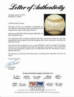 Babe Ruth HOF Yankees Autographed/Signed Hand-Painted Baseball JSA & PSA 145320