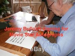 Boba Fett Darth Vader Star Wars Prowse Bulloch hand signed photo inc Quotes COA