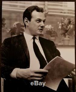 Brian Epstein, Beatles Manager Hand Signed Card With Photo and LOA