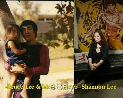 Bruce Lee Lithograph / Autograph Autogramm / Hand Signed by Shannon Lee
