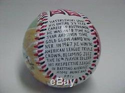 Carl Yastrzemski Hand Painted Baseball Red Sox Signed PSA Topps