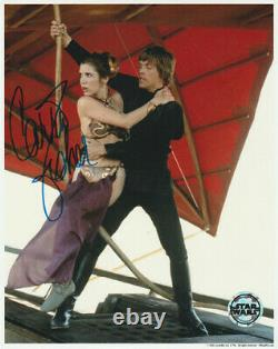Carrie Fisher Hand Signed Autograph 8x10 Photo COA STAR WARS RETURN OF THE JEDI