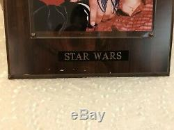 Carrie Fisher Mark Hamill Star Wars Hand Signed Autographed Photo With Coa