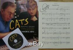 Cats Beautiful Ghosts Fyc CD Sheet Music Hand Signed Autographed By Taylor Swift