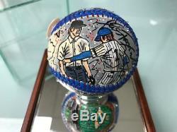 Charles Fazzino Billy Martin 3D Hand Painted Baseball 1/1 Autograph NY Yankees