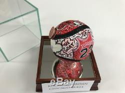 Charles Fazzino Michael Jordan 3D Hand Painted Autograph Baseball Upper Deck