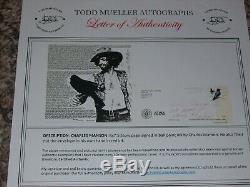 Charles Manson Autographed Hand Signed Paper & Envelope With Todd Mueller COA