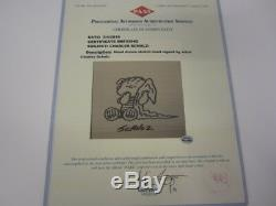 Charles Schulz Peanuts signed autographed Linus hand drawn Sketch COA