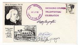 Chuck Yeager Pappy Boyington J H Doolittle WW II Autograph Hand Signed Envelope
