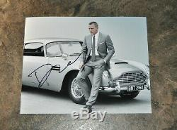 DANIEL CRAIG HAND SIGNED / AUTOGRAPHED 8x10 B&W PHOTO COA Mint 007 JAMES BOND