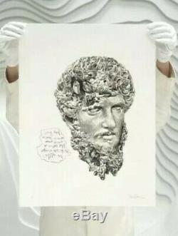 Daniel Arsham Eroded Classical Prints Autograph Special Edition 67/99 In Hand