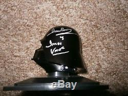 Darth Vader Deagostini helmet & case hand signed by Dave Prowse UACC reg Dealer