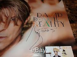 David Bowie Rare Fully Authentic Hand Signed Promo Poster Reality Autographed