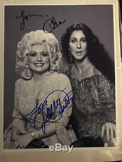 Dolly Parton And Cher Original Hand- Signed Autograph