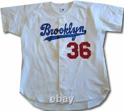Don Newcombe Hand Signed Autographed Brooklyn LA Dodgers Inscribed Stat Jersey