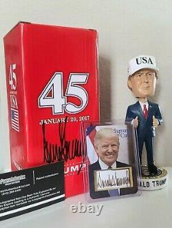 Donald Trump Hand-Signed, Autographed Inauguration Bobblehead with COA + Bonus