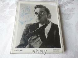 EARLY Johnny Cash Vintage Photo as Actor withGun Hand Signed Autographed Kill Em