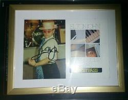 ELTON John hand signed autographed framed 4x6 photo + VIP pass COA