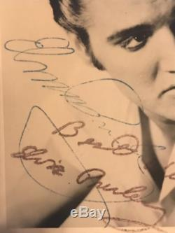 ELVIS PRESLEY hand signed RCA card, autograph In-person 1959, 2 COAs museum