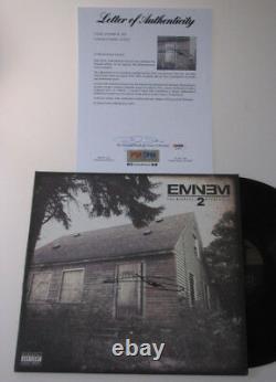 EMINEM Hand Signed LP + PSA DNA COA Buy 100% GENUINE EMINEM -DO YOUR RESEARCH