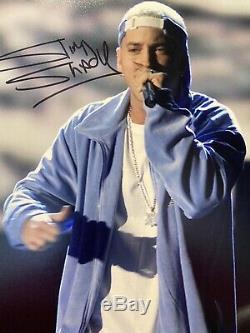 EMINEM autographed photo 8 x 10 withCOA hand signed Slim Shady