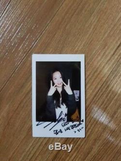 EXID SOLJI Real Polaroid Autographed Hand Signed