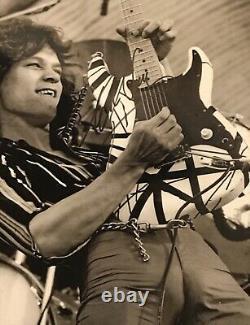 Eddie Van Halen Hand Signed Autograph Photo w Holo COA