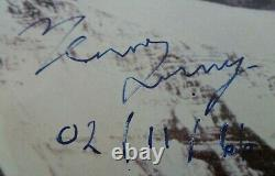Edmund Hillary & Tenzing Norgay hand signed Mt Everest picture