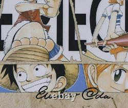 Eiichiro Oda ONE PIECE hand signed autograph photo with coa