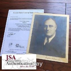 FRANKLIN D. ROOSEVELT JSA LOA Autograph Hand Signed Photo President