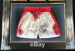 Framed Sylvester Stallone Hand Signed Officially Licensed Rocky IV Shorts Aftal